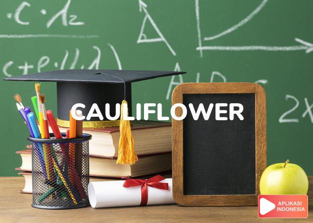 arti cauliflower adalah kb. blumkol, kol kembang. dalam Terjemahan Kamus Bahasa Inggris Indonesia Indonesia Inggris by Aplikasi Indonesia