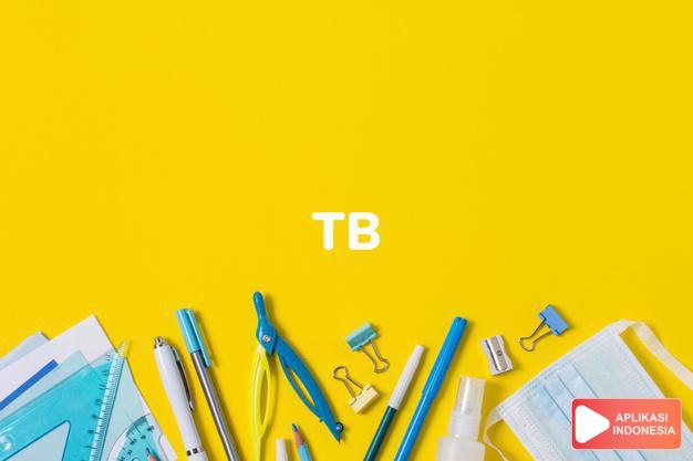 arti tb adalah kb. tbc, tebese. dalam Terjemahan Kamus Bahasa Inggris Indonesia Indonesia Inggris by Aplikasi Indonesia
