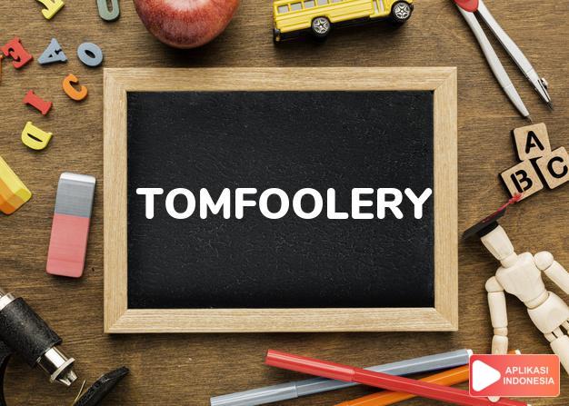 arti tomfoolery adalah kb. (j. -ries) tindakan gila-gilaan. dalam Terjemahan Kamus Bahasa Inggris Indonesia Indonesia Inggris by Aplikasi Indonesia