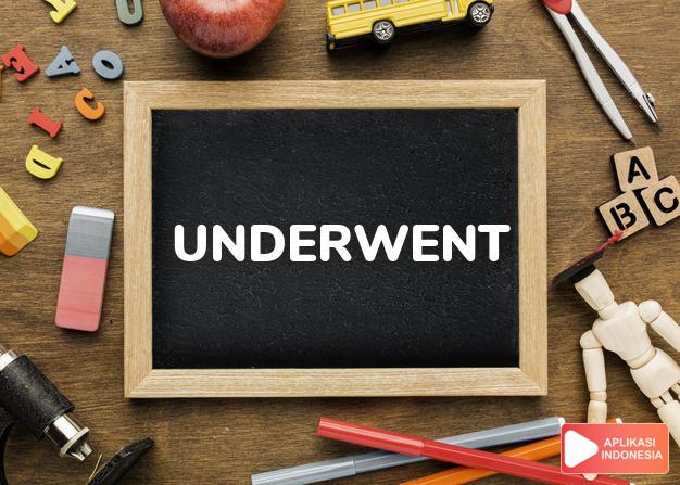 arti underwent adalah lih   UNDERGO. dalam Terjemahan Kamus Bahasa Inggris Indonesia Indonesia Inggris by Aplikasi Indonesia